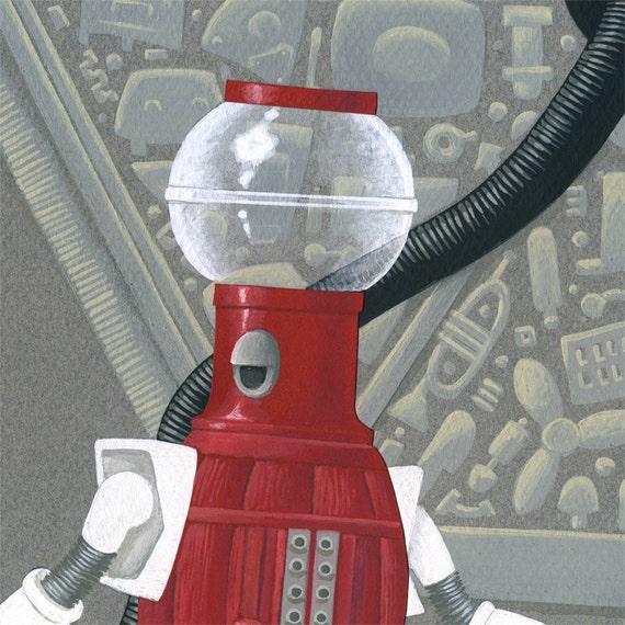 "Mystery Science Theater 3000 Tom Servo art print ""I'm Huge"""
