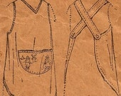 Little Girls One Piece Vintage 1920s Apron Pattern 2613