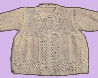Blackberry Stitch Baby's Set Knitting Pattern Instant Download