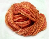 Handspun, Hand Dyed Yarn -Thread Plied -  Fire Squiggle SALE