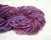 Handspun , Hand Dyed Yarn - Single - Rockstar Stripe RESERVED for sophiaclark