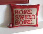 Home Sweet Home Cross Stitch Pillow