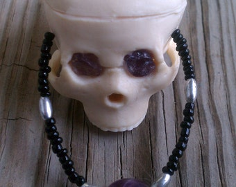 Hand Made Gothic Skull Necklace