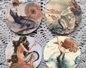 Siren Song --Mermaid Mousepad Coaster Set