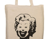 SALE - Urban Punk Eco tote shopping bag with Marilyn McDonald Print