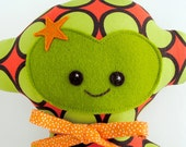 Green and Orange Super Hero Monkey Cloth Doll