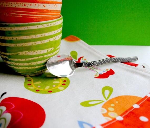 Fruity Retro Tea Towel