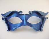 Little Sprite Leather Mask in Royal Blue