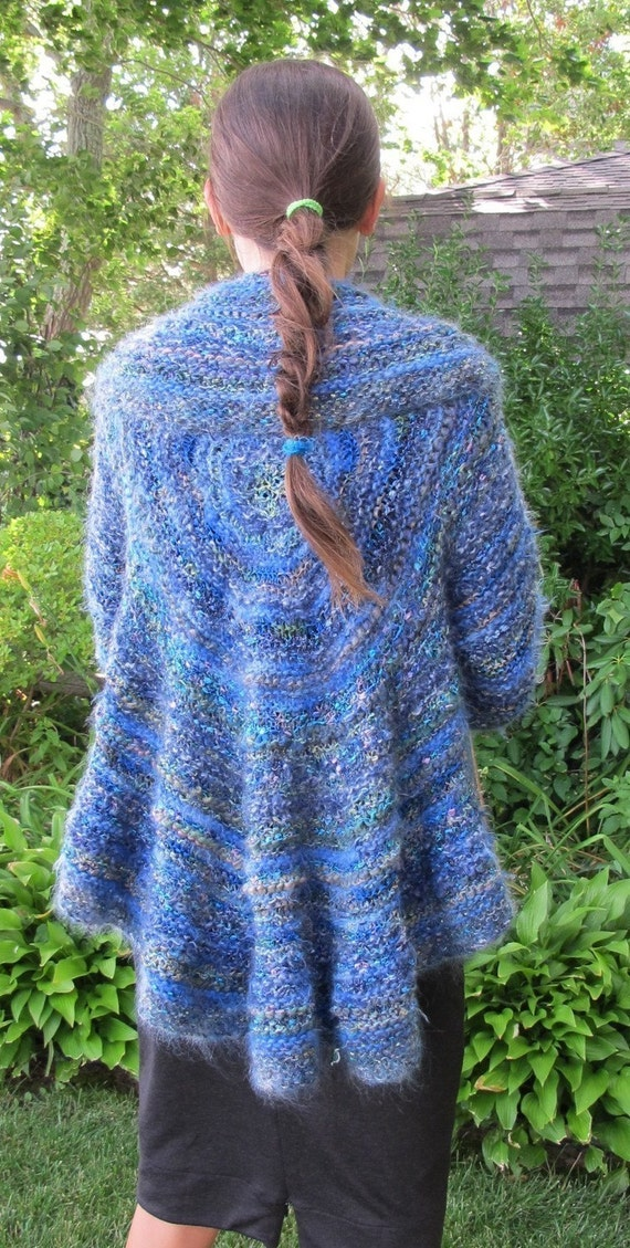 Knitting Pattern Swing Jacket : Circle Swing Coat knitted with a variety of yarns by Sarahmontie