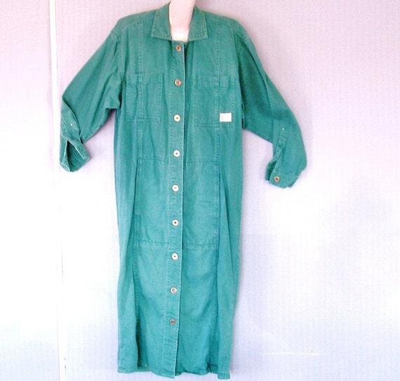 Kettle Creek dress jumper long-sleeved size large in soft blue green vintage for women