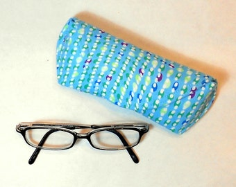Eye Glass Case or Sun Glass Case - Curved Stripes