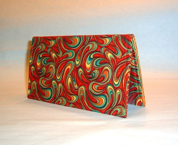 Checkbook Cover - Primary Swirls