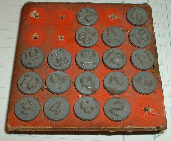 Vintage 1948 Acro Hold Tite Numbering Tacks Lot By
