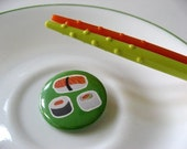 I Heart and Eat Sushi Button (1.25 inch)