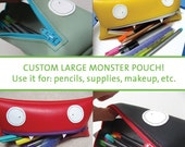 Custom Large Monster Pencil Case\/Clutch