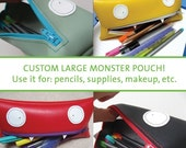 Custom Large Vinyl Monster Pouch\/Clutch