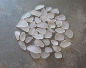 white seaglass assorted No.16
