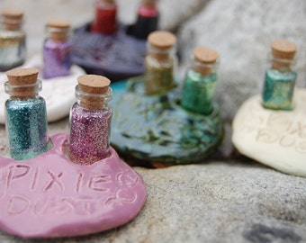 Enchanted Pixie Dust Vials with Ceramic Holder
