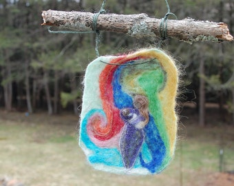 Breastfeeding Mother mini wool tapestry