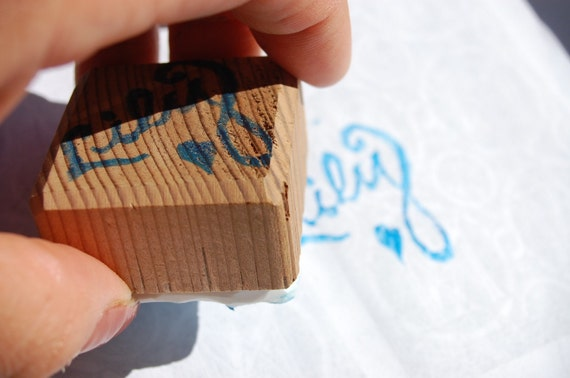 Personalized hand carved name stamp- stocking stuffer