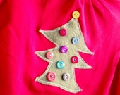 Christmas Tree turtleneck with buttons