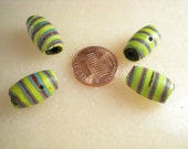 Antique Trade Beads-Feather Or Bumble Bee