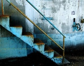 Industrial Photo. Grain Elevator Number 12 in Blues. Art Photography