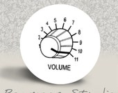 Pump Up the Volume - PINBACK BUTTON or MAGNET - 1.25 inch round