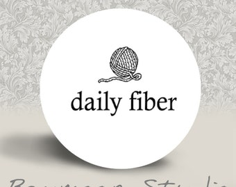 Daily Fiber - PINBACK BUTTON or MAGNET - 1.25 inch round