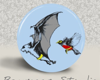 Batman and Robin - PINBACK BUTTON or MAGNET - 1.25 inch round