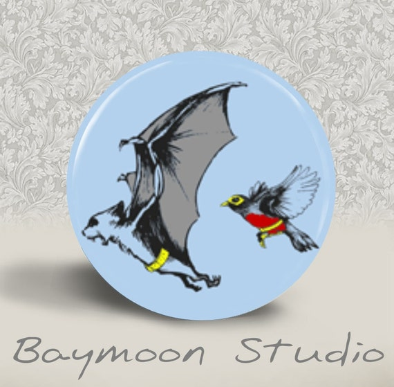 Batman and Robin - PINBACK BUTTON - 1.25 inch round