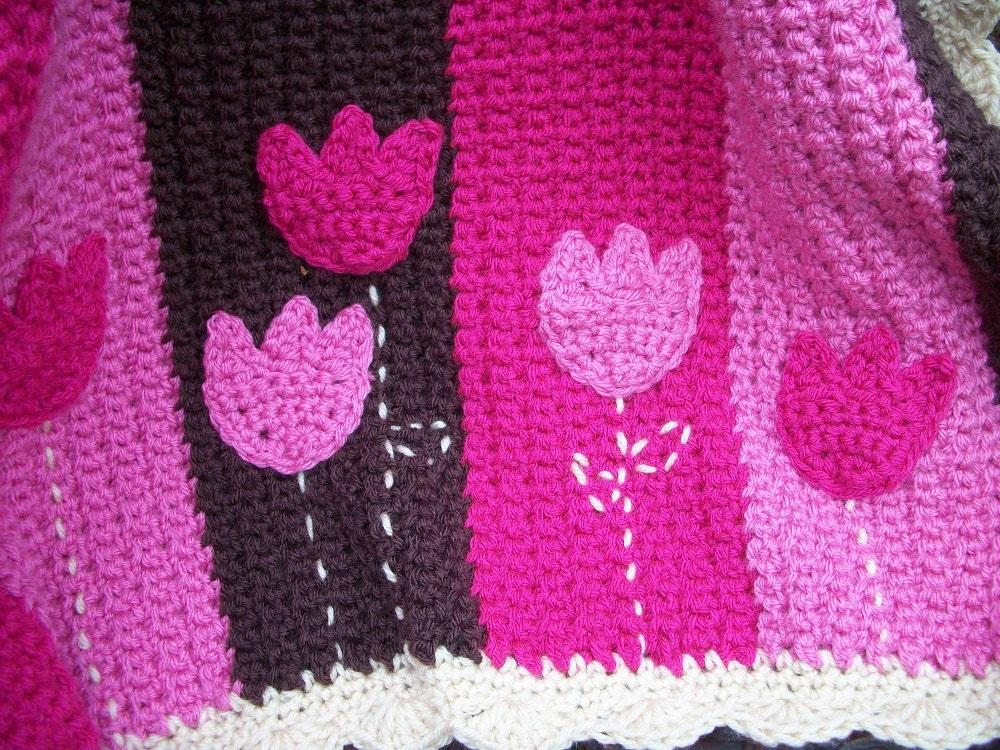 PDF Crochet Pattern for Tulip Baby Blanket Newborn Blanket