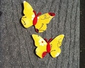 Ladybugs Fabric Felt  Butterfly Appliques Set of 2 Appliques Great for hair clips or scrapbooking