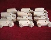 12 Assorted Pine Mini-Trucks, All Truck Assortment