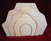 Little Stacker, Earth Element Unfinished Pine Cutout