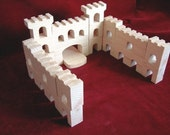 Combined Fortress Blocks and Fortress Walls, Unfinished Pine Blocks