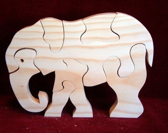 Big Elephant Puzzle, Unfinished Pine