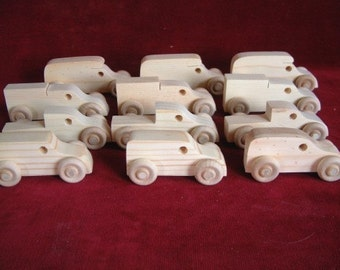 12 Assorted Pine Mini-Trucks, All Truck Assortment
