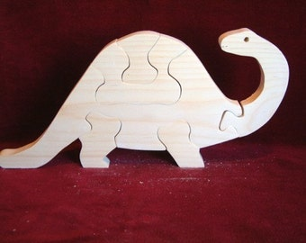 Brontosaurus Puzzle, Unfinished Pine