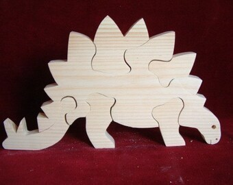 Stegosaurus Puzzle, Unfinished Pine