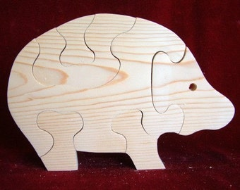 Pig Puzzle, Unfinished Pine