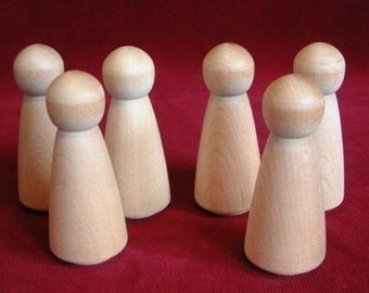 6 No. 1 Large Angel Dolls Unfinished Hardwood