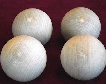 Hardwood Ball, 4  No. 2 Commercial 2 inch Diameter, Unfinished