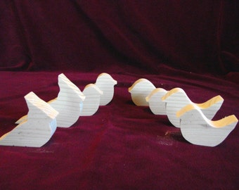 Smaller Songbirds, Wood Cutouts, Unfinished Pine