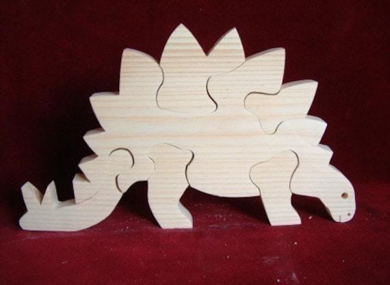 Stegosaurus Puzzle, Unfinished Pine