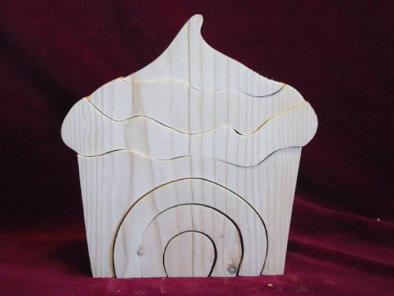 Big Stacker, Cup Cake or Ice Cream Cone, Unfinished Pine