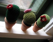 Cacti Trio- 3 Crochet Cactus