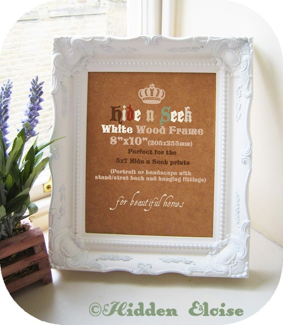 reserved for paul 3 x ornate vintage style 8x10 white picture frames