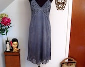 revamped vintage vanity fair slip dress - ash