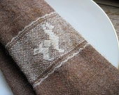 Alpaca Wool Necktie - Brown Llama Neck Tie
